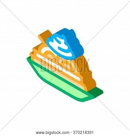 Mayonnaise Seasoning Food Plate Icon Vector. Isometric Mayonnaise Seasoning Food Plate Sign. Color I