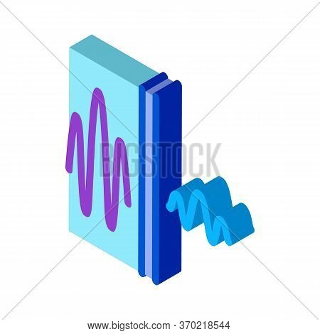 Sound And Silence Icon Vector. Isometric Sound And Silence Sign. Color Isolated Symbol Illustration