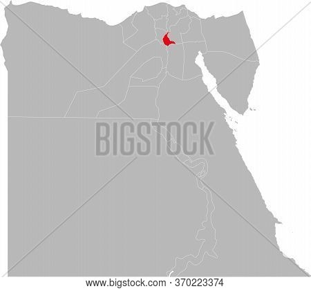 Qalyubia Governorate Highlighted On Egypt Map. Business Concepts And Backgrounds.