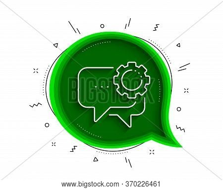 Employees Messenger Line Icon. Chat Bubble With Shadow. Speech Bubble Sign. Chat Message Symbol. Thi
