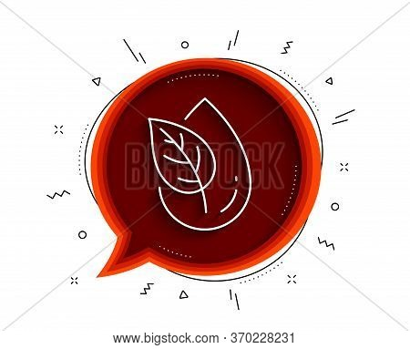 Organic Product Line Icon. Chat Bubble With Shadow. No Artificial Colors Sign. Natural Flavors Symbo