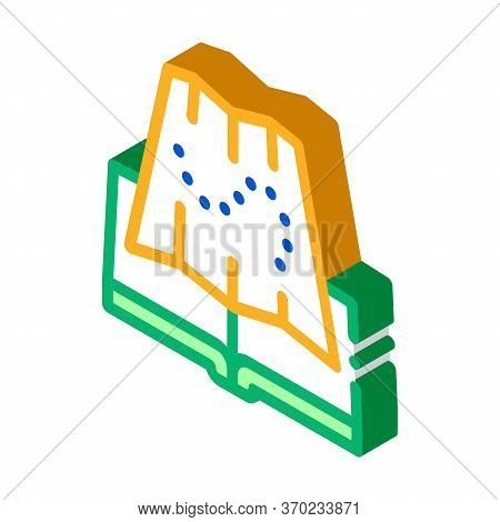 Integrated Geography Icon Vector. Isometric Integrated Geography Sign. Color Isolated Symbol Illustr