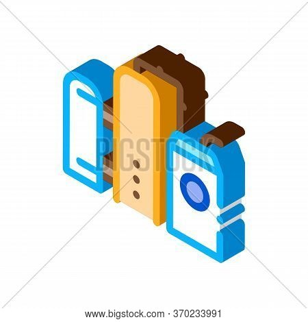 Gas Supply Station Icon Vector. Isometric Gas Supply Station Sign. Color Isolated Symbol Illustratio