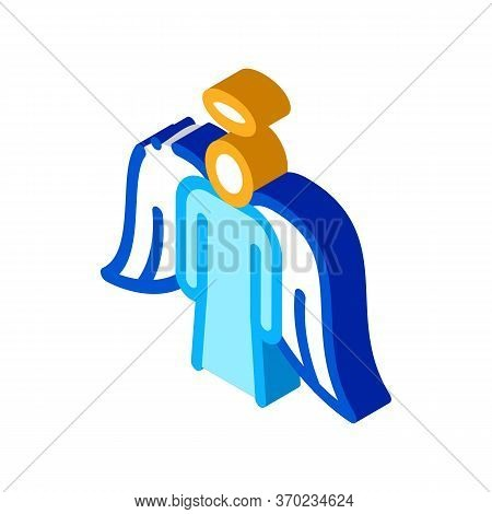 Holy Angel With Wings Icon Vector. Isometric Holy Angel With Wings Sign. Color Isolated Symbol Illus