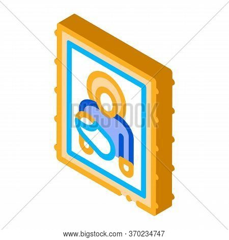 Icon Of Holy Mother Of God Icon Vector. Isometric Icon Of Holy Mother Of God Sign. Color Isolated Sy