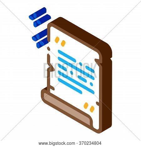 Church Sacred Document Icon Vector. Isometric Church Sacred Document Sign. Color Isolated Symbol Ill