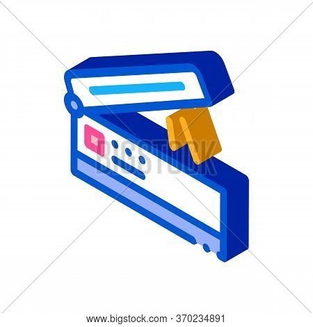 Scanner For Work Icon Vector. Isometric Scanner For Work Sign. Color Isolated Symbol Illustration