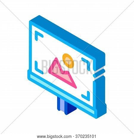 Easel Painted With Colored Paints Icon Vector. Isometric Easel Painted With Colored Paints Sign. Col