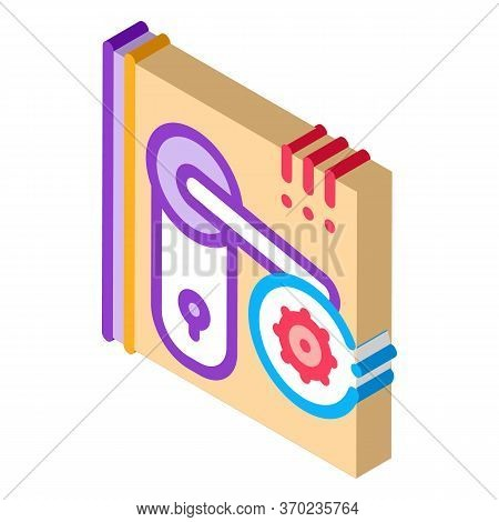 Pests In Keyhole Icon Vector. Isometric Pests In Keyhole Sign. Color Isolated Symbol Illustration