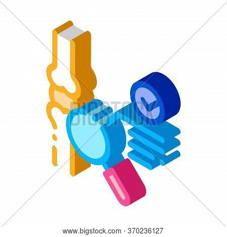 Bone Joint Test Icon Vector. Isometric Bone Joint Test Sign. Color Isolated Symbol Illustration