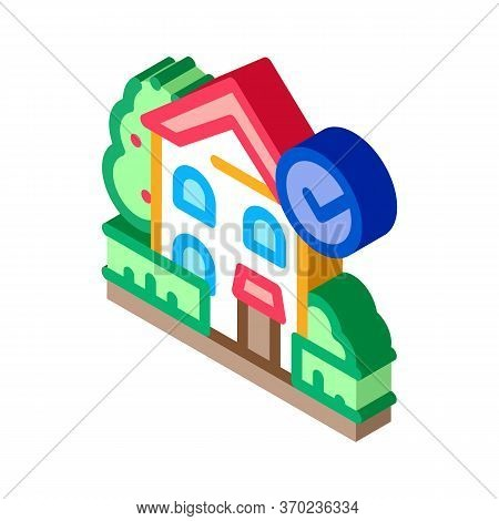 Ecologically Clean Territory Icon Vector. Isometric Ecologically Clean Territory Sign. Color Isolate