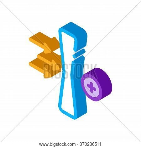 Improved Lens Wearing Effect Icon Vector. Isometric Improved Lens Wearing Effect Sign. Color Isolate