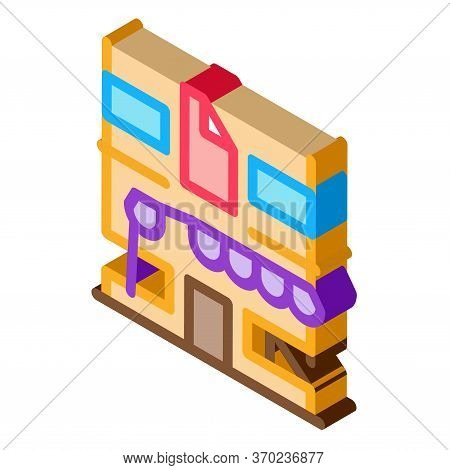 Residential Building For Restoration Icon Vector. Isometric Residential Building For Restoration Sig