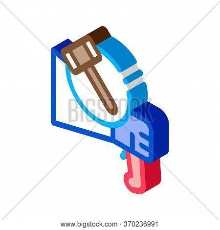 Public Bargaining Icon Vector. Isometric Public Bargaining Sign. Color Isolated Symbol Illustration