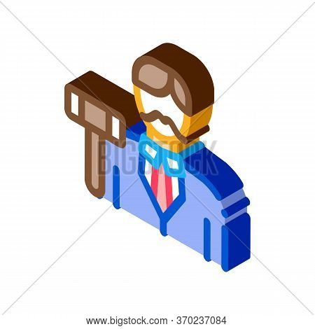 Auction Lead Icon Vector. Isometric Auction Lead Sign. Color Isolated Symbol Illustration