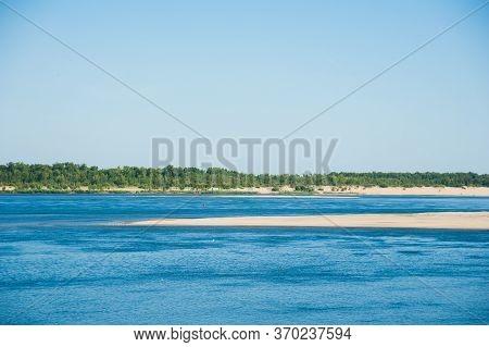 Summer Landscape On The River Bank