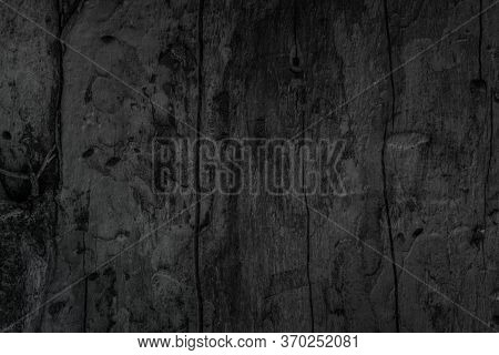 Abstract Vignette Black Wood Texture High Quality Close Up. Dark
