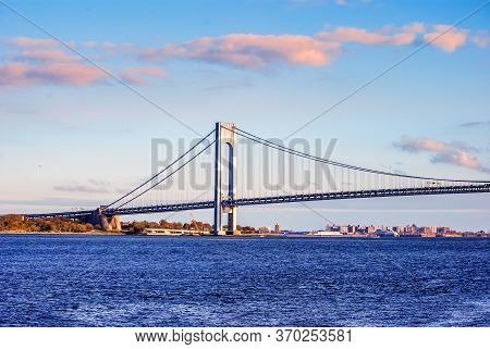 Verrazzano Narrows Bridge That Connects Staten Island To Brooklyn