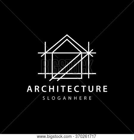 Architect House,home,realestate Logo Design, Architectural And Construction Design Vector Template