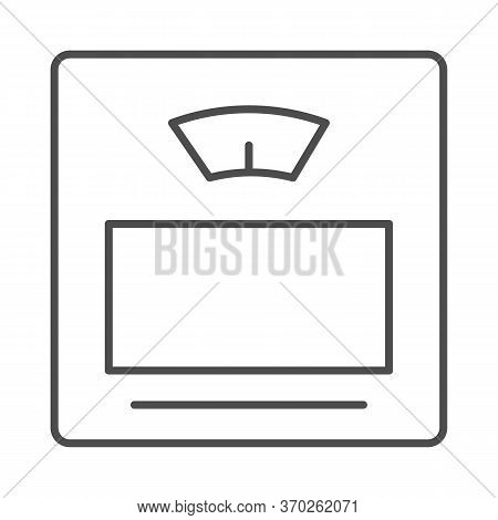 Scales Thin Line Icon, Measuring Devices Concept, Bathroom Digital Scale Sign On White Background, H