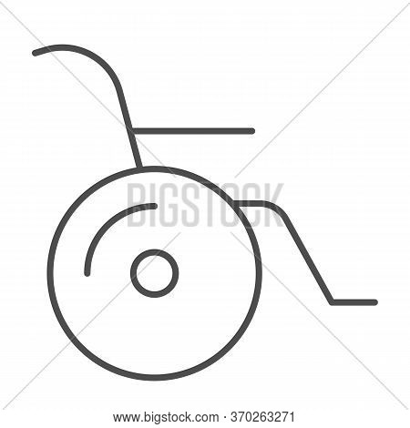 Wheelchair Thin Line Icon, Heath Care Concept, Disabled Sign On White Background, Wheelchair Handica