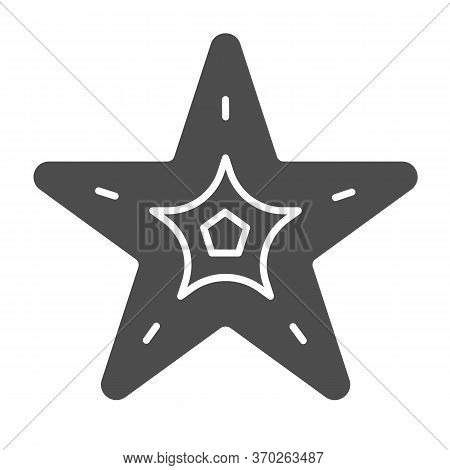 Starfish Solid Icon, Nautical Concept, Seastar Sign On White Background, Starfish Icon In Glyph Styl