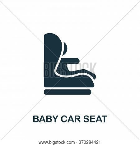 Baby Car Seat Icon. Simple Element From Carsharing Collection. Creative Baby Car Seat Icon For Web D