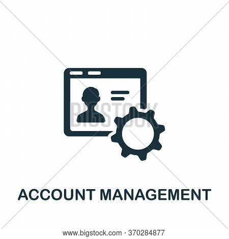 Account Management Icon. Simple Element From Company Management Collection. Creative Account Managem