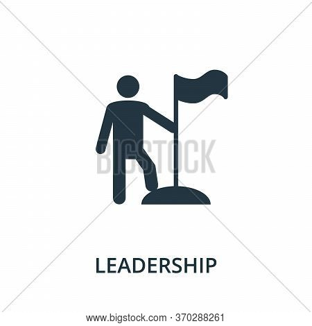 Leadership Icon From Reputation Management Collection. Simple Line Element Leadership Symbol For Tem