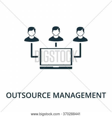 Outsource Management Icon From Reputation Management Collection. Simple Line Element Outsource Manag