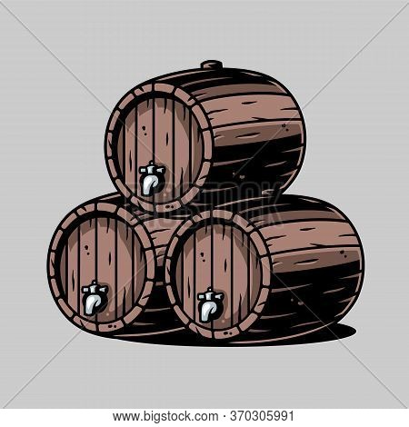 Wooden Barrel For Beer Wine Whisky Bar