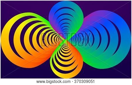 Digital Textile Design Of Rainbow Infinite Symbol On Abstract Background