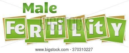 Male Fertility Text Written Over Green Background.