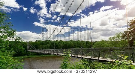 Suspended Cable-stayed Bridge Over The Neman River