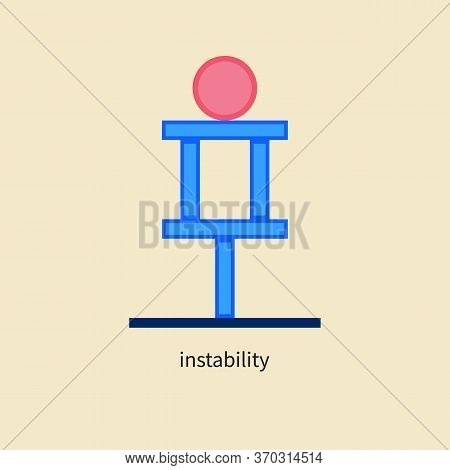 Unstable System Icon, Vulnerability In Business, Symbol Of Balance, Idea Of Financial Risks