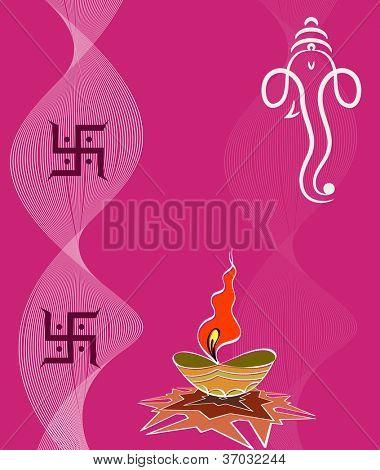 Ganesha Diwali Greeting poster
