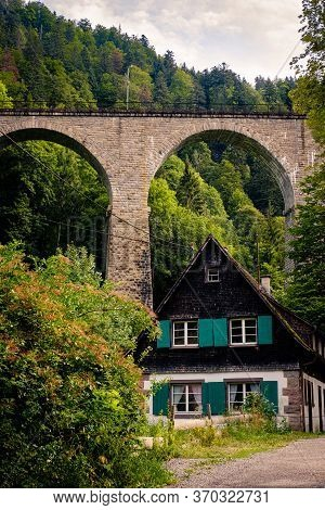 Breitnau, Baden-württemberg, Germany - July 27 2019 : Traditional House In The German Black Forest W