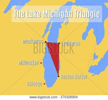 The Lake Michigan Triangle - Vector Map.