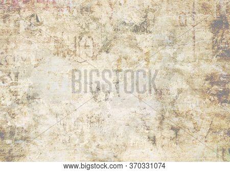 Old Newspaper Paper Grunge Texture Background. Blurred Vintage Newspapers Textured Backdrop. Blur Un