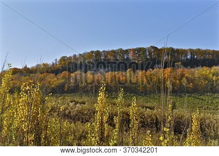 View Of Niagara Escarpment In Autumn, Milton, Ontario, Canada.
