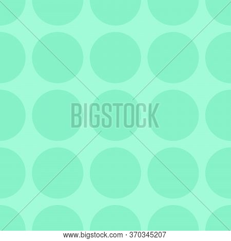 Tile Vector Pattern With Dots On Green Background