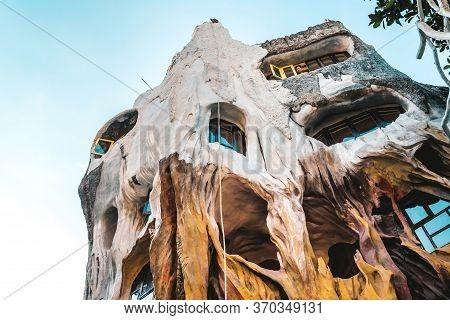 Dalat, Vietnam. April 26, 2019.unidentified Tourists Come To Visit At Hang Nga Guesthouse, Crazy Hou