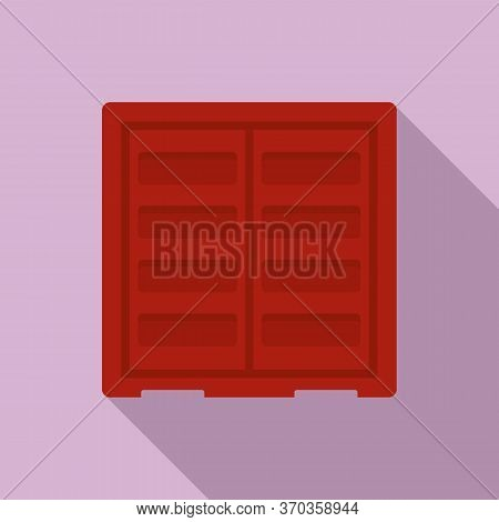 Shipping Cargo Container Icon. Flat Illustration Of Shipping Cargo Container Vector Icon For Web Des