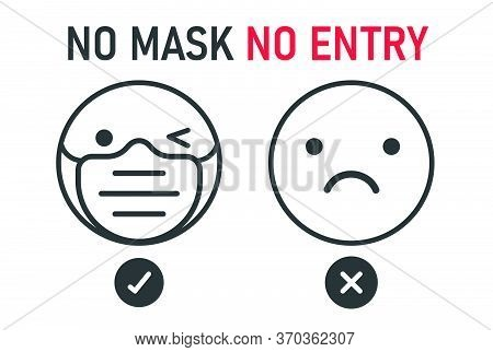 No Face Mask No Entry. The Label Does Not Provide Service To People Who Do Not Wear A Mask.