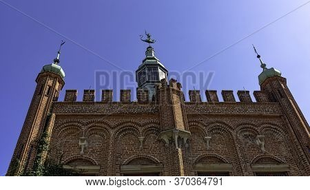 Gdansk, Pomerania, Poland - August 26: Vintage Architecture Of Old Town On August 26, 2019 In Gdansk