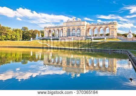 Gloriette Viewpoint And Schlossberg Fountain Lake In Vienna View, Capital Of Austria