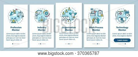 Different Mentors Onboarding Mobile App Page Screen With Concepts. Organisation Management Walkthrou
