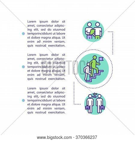 Career Guidance Concept Icon With Text. Mentoring For Corporate Employee. Learning From Expert Ppt P