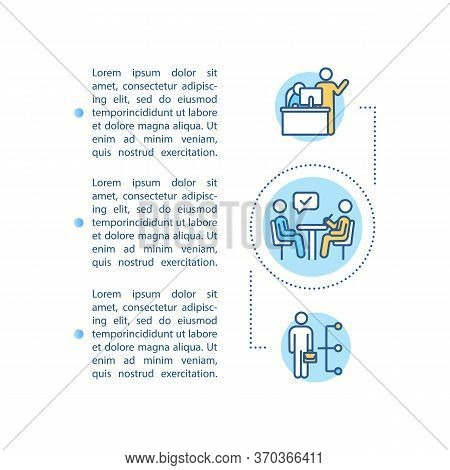 Corporate Executive Concept Icon With Text. Leadership In Company. Staff Training. Mentoring Subordi