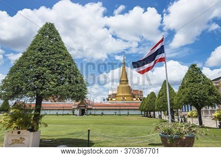 Wat Phra Kaew, Thailand  - June 08, 2020 :- Temple Of The Emerald Buddha (officially Known As Wat Ph